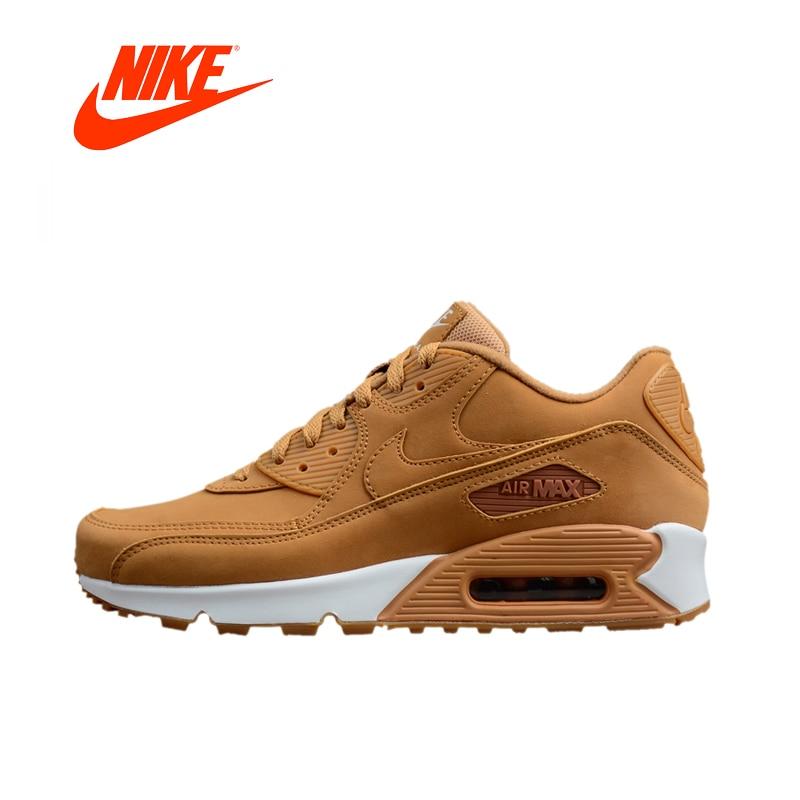 Original Nouvelle Arrivée Authentique Nike AIR MAX 90 Hommes de Lumière Chaussures de Course Espadrilles de Marche En Plein Air Jogging Sneakers 881105- 200