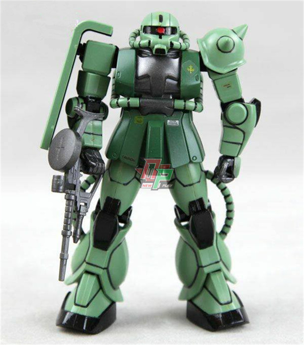 Bandai modelo escala 1:144 UC século verde vermelho Zaku 2 MS-06F modelismo Gundam robot kits modelo de Montagem