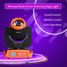 Disco Light 230 W 14 Warna RGBW LED Mini DMX512 Gobo Moving Head Spot Light Klub DJ Lampu Panggung Bergerak kepala Suara. Lampu LED(China)