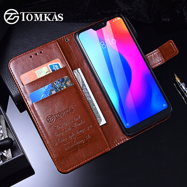 san francisco 475b1 dc2a8 US $3.99 20% OFF|TOMKAS Wallet Case For Xiaomi Redmi 6 Pro Cover Mi A2 Lite  Case Luxury Leather Coque Case For Xiaomi Mi A2 Lite Redmi 6 Pro -in ...