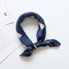 Retro art women silk scarf Square Imitate Silk Scarf Cravate Scarves Cartoon small Head Neck Hair Tie Band Multi-Use Neckerchief милберн м раствориться в его объятиях