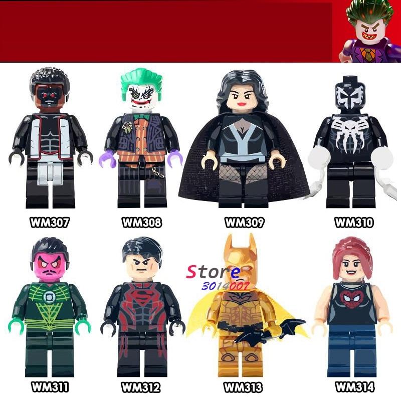 Single super heroes Superboy Gold Batman Mr Terrific Joker Zatanna Zatara Venom building blocks models bricks toys for children super heroes ghostface skeletor joker he man he man heman luke skywalker wolverine marty mcfly building blocks toys for children
