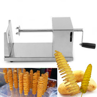 New Stainless Steel Manual Twisted Potato Slicer Spiral Potato French Fries Chips Twister Slicer Cutter Tornado Machine