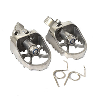1Pair Stainless Steel Motorcycle Front Footpegs Foot Rest Pegs Fit For BMW R1200GS ADV R1150GS ADV