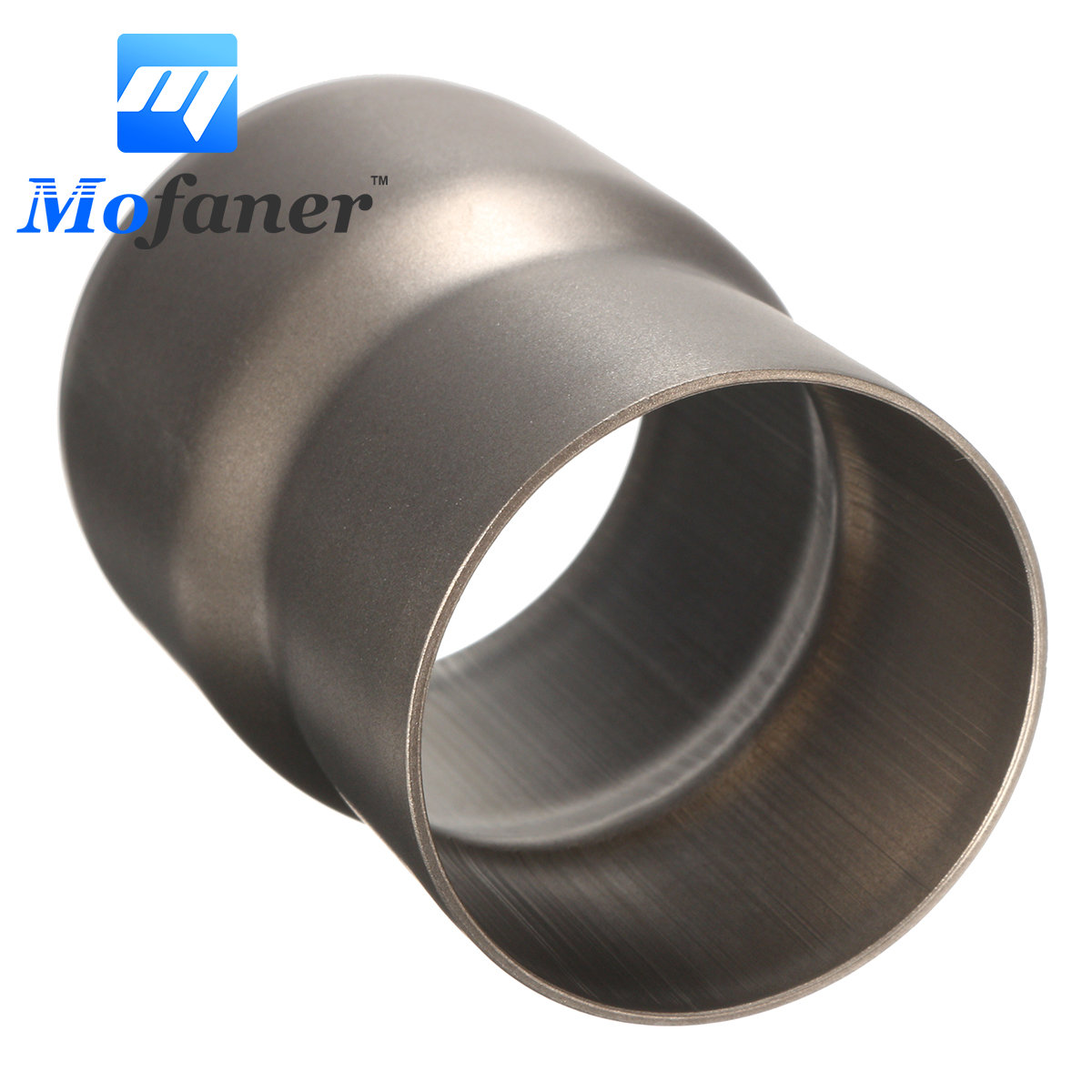 Mofaner 60mm to 51mm Motorcycle Exhaust Adapter Mild Steel Convertor Adapter Reducer Connector Pipe Tube
