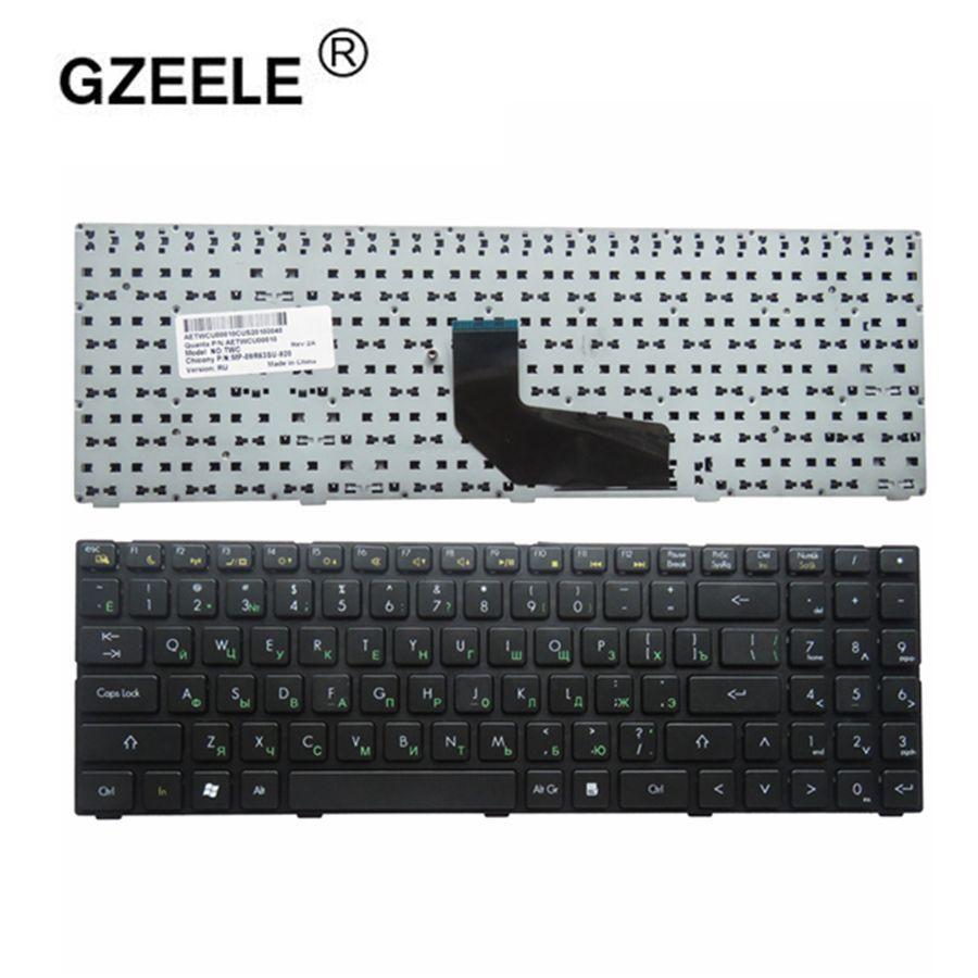 GZEELE Russian Keyboard For DNS 0158740 TWJ O2C K660D AETWCU00010 MP-09R60J0-920 TWC-N13M-GE2 TWC-N13P-GT RU Black Keyboard