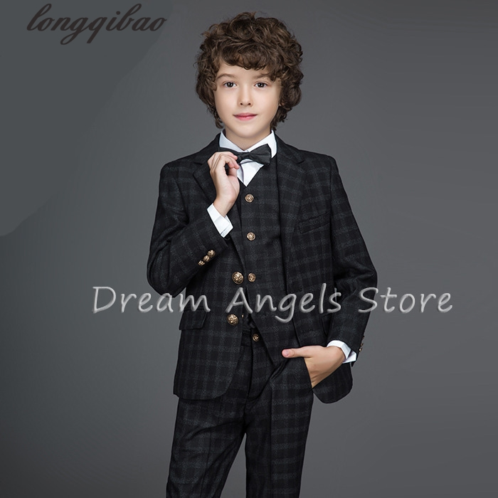 Top quality baby boys Spring Autumn casual blazers black jacket wedding suits for boy formal children clothing kids prom suit autumn clothing set for baby boys wedding suits 3 piece kids blazers jackets boys tuxedo boys blazers suit children formal suit