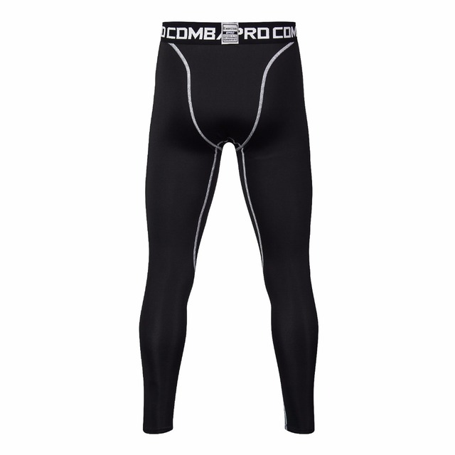 New Men Compression Pants Bodybuilding Joggers Fitness Quick Dry Skinny Leggings Mens Pure Color Crossfit Tights Trousers