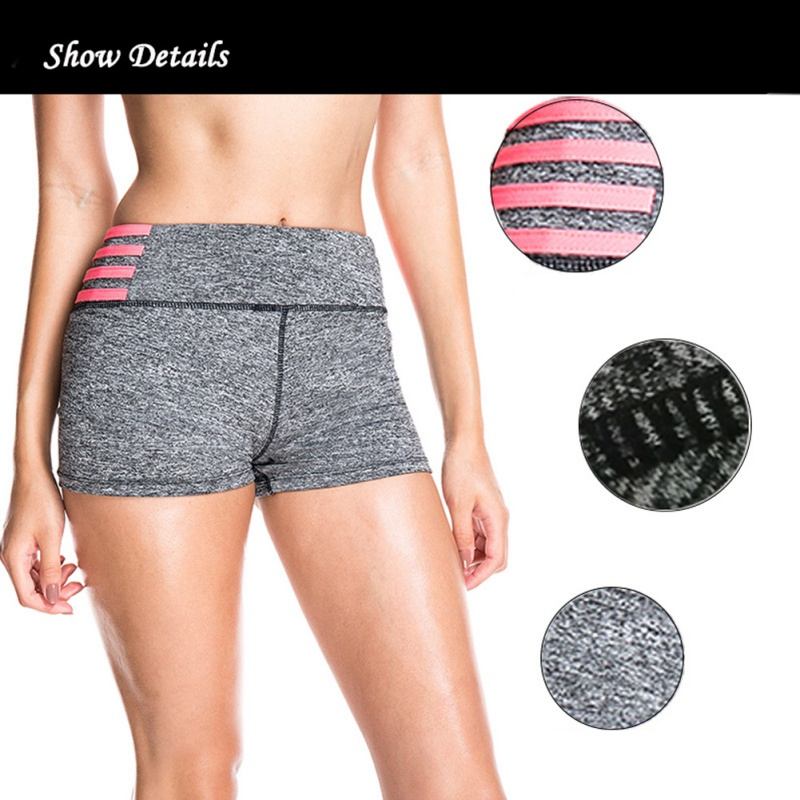 Booty Shorts for Women Fashion Gray Elastic Fitness Summer High Waist Biker Shorts Woman Sexy Slim Short Femme 2019 New Arrival