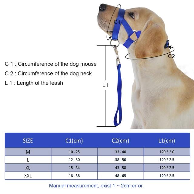 Nylon Dogs Head Collar Dog Training Halter Blue Red Black  Colors M L XL XXL Sizes