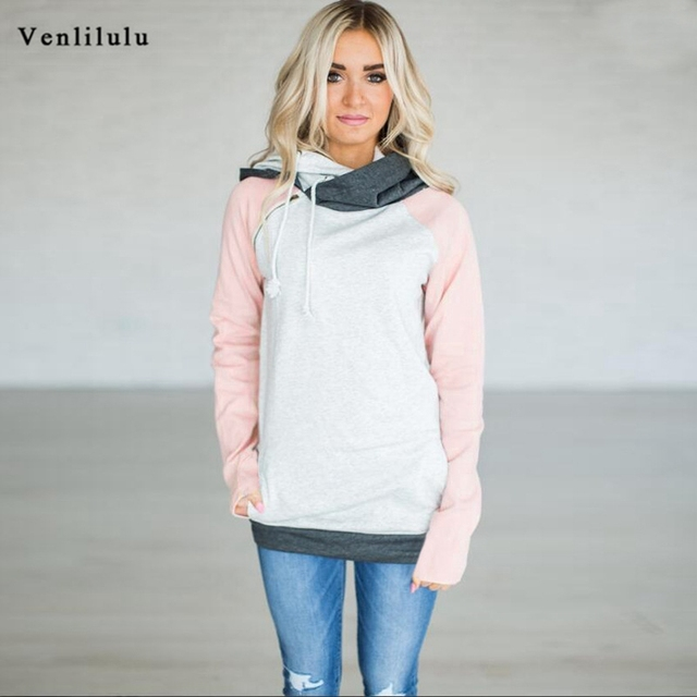 8d4baff6ec1 Oversize Women Hooded Sweatshirt Plus Size Warm Autumn Pullover Hoodies  Sweatshirts Female Patchwork Hoodie Double Hoody XXXL
