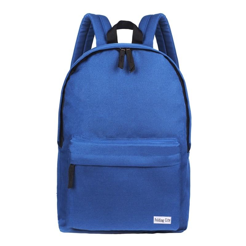 ThiKin Casual School Backpack Blue Polyester Junior high Book Bags Women  Rucksacks Black Travel Daypack Mochila b565b893043a8