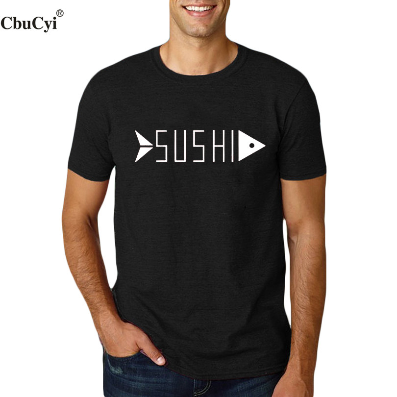 Cbucyi sushi food funny t shirt mens clothing college for T shirts for college guys