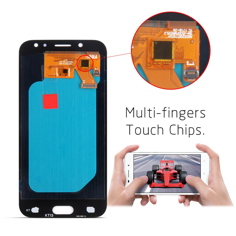 Image 5 - LCD For Samsung Galaxy J5 2017 j530 j530f LCD Display and Touch Screen Digitizer Assembly Brightness Adjustment-in Mobile Phone LCD Screens from Cellphones & Telecommunications
