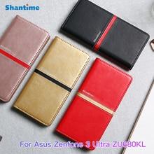 Telefone Estojo de couro Para Asus Zenfone 3 Ultra ZU680KL Flip Book Case Para Asus ZU680KL Wallet Business Case Tpu Silicone tampa traseira