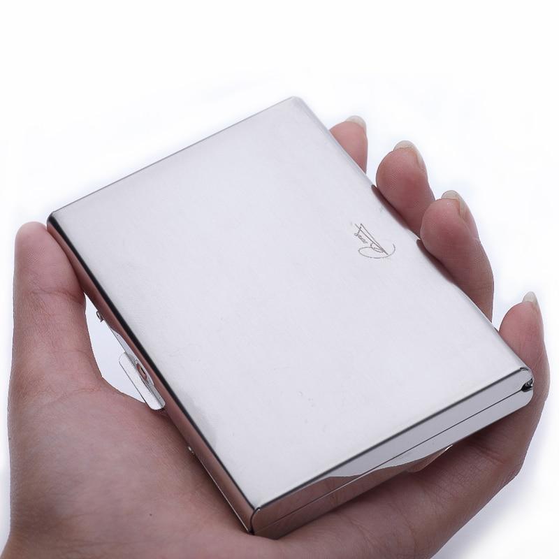 Online Shop Stainless Steel RFID Blocking Credit Card Holder Case ...