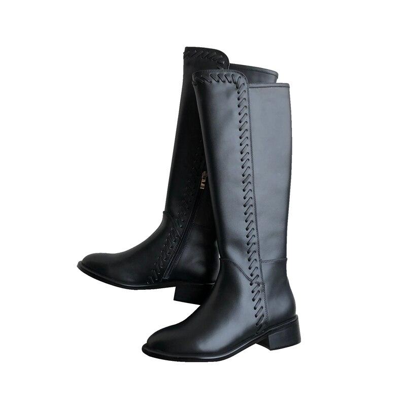 Sapato Femmes Chaussures Marque Éclair Show Marée Rétro Bottes Moto As Plat Dames Chaud Nouvelle Confortable Mode Feminino Fermeture SwF4q11n
