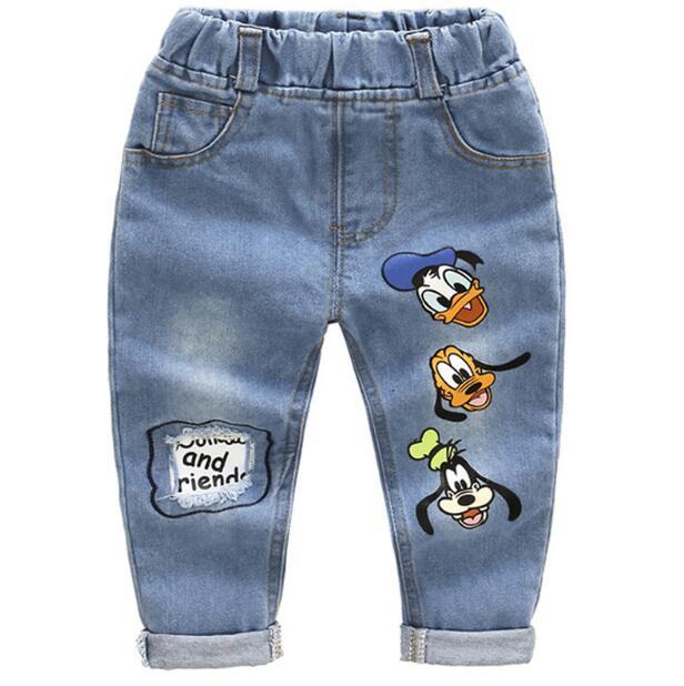 0aa228bbc Brand Kids Cartoon Trousers Pant Fashion Girls Jeans Children Boys Hole  Jeans Kids Fashion Denim Pants