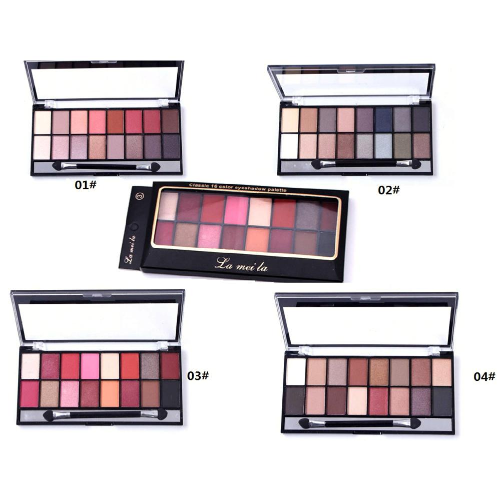 Eye Shadow Lameila 16 Colors Natural Makeup Eye Shadow Pearlescent Matte Earth Tone Makeupbrighten Skin Colour Dress Up Your Beauty