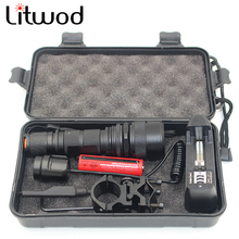 Z30 Litwod Led Tactical Flashlight CREE XML-L2 5000Lm Zoom Aluminum Remote Switch Led USB Rechargeable Flashlight For Hunting