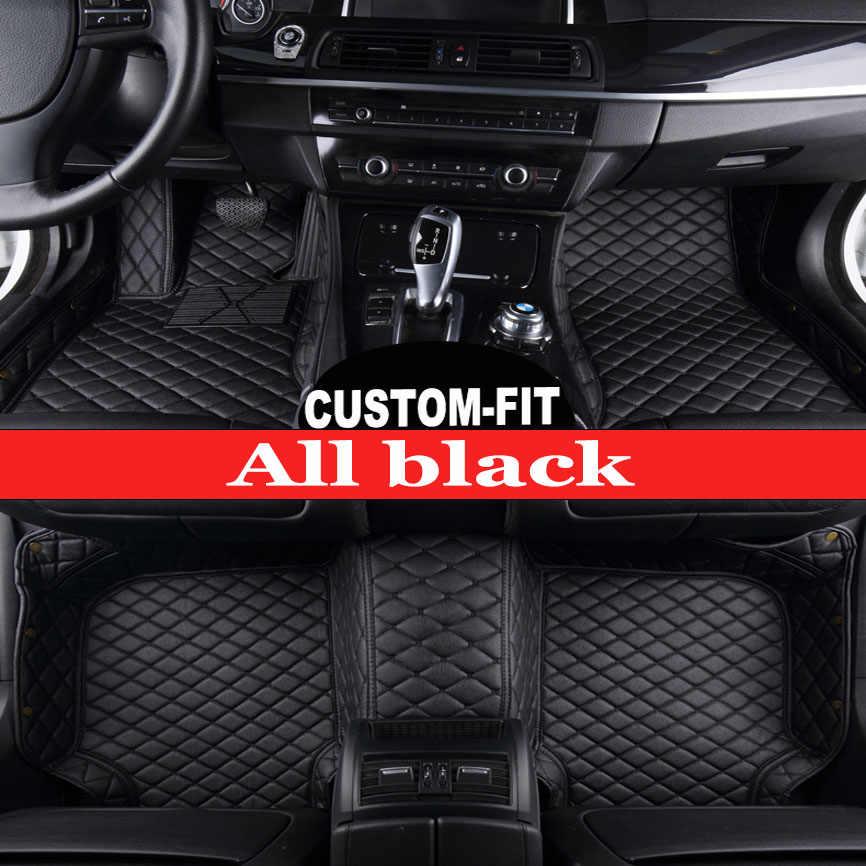 Alfombrillas de suelo de coche hechas a medida para Ford Ecosport Fiesta Edge Escape Kuga Fusion Mondeo Explorer Focus 5D estilo de coche alfombra camisas