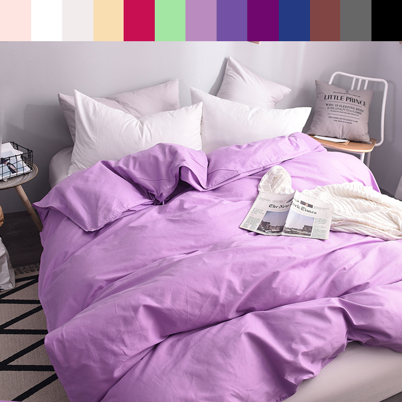Custom Duvet Cover 1 Persons Quilts Covers King Queen Double 600TC Pure Cotton Luxury Bedding Nordic 150*200 <font><b>140*200</b></font> Lilac image