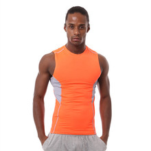 Men gym sleeveless t shirt outdoor sports camouflage tights men running fitness bodybuilding compression tank top