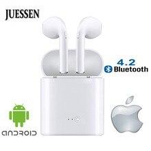 I7s TWS Мини Bluetooth наушники Беспроводная гарнитура стереонаушники спортивные наушники Air с микрофоном зарядная коробка для iPhone Android