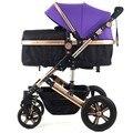 Carrinho de Bebê de Alta paisagem europeia cesta Dormir pode sentar ou deitar choque Carrinho De Bebê para Crianças Carrinhos para Recém-nascidos