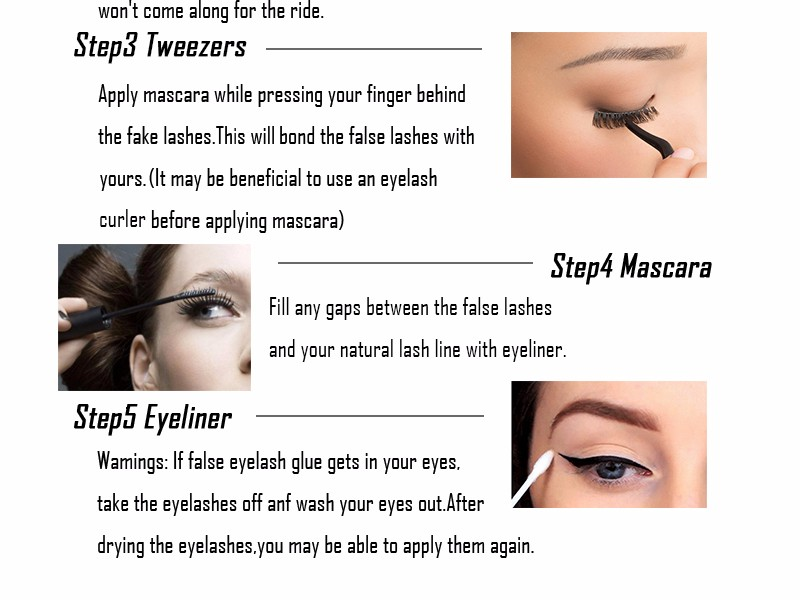 10 Pairs Natural False Eyelashes Long Cross Fake Eye Lashes