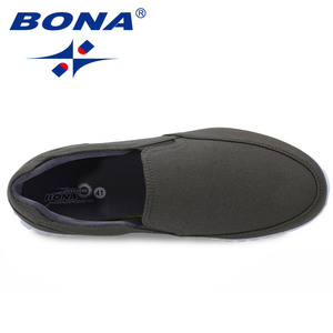 Image 4 - BONA New Typical Style Men Canvas Shoes With Elastic Band Men Footwear EVA Outsole Comfortable Shoes Light Fast Free Shipping