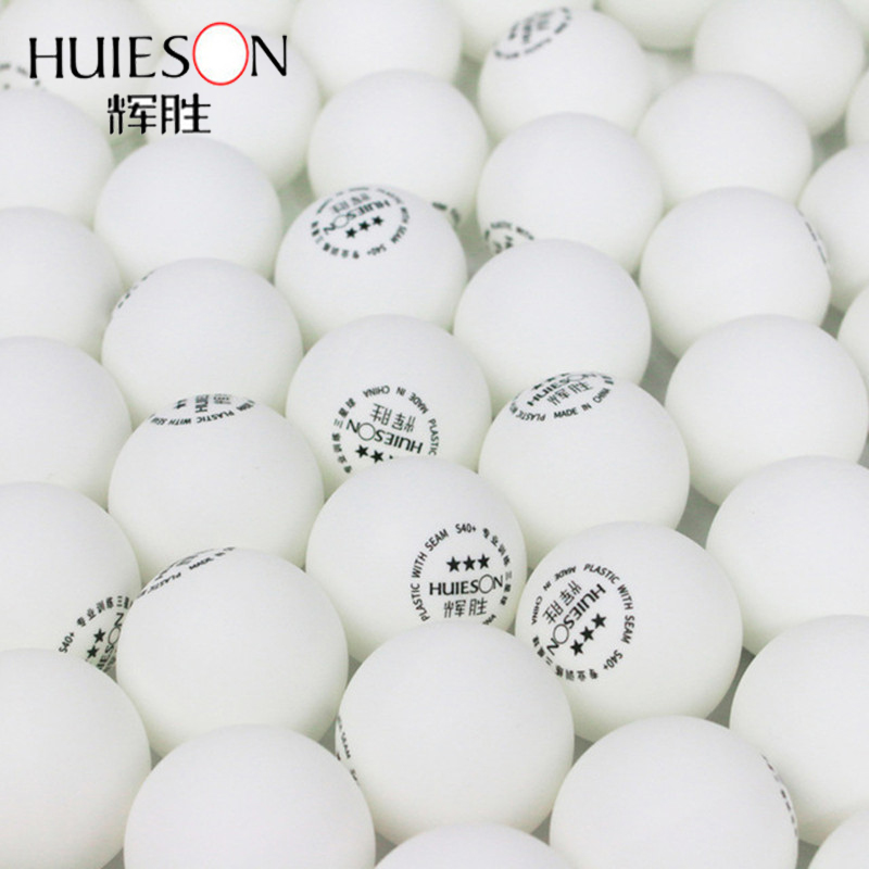 Huieson 100pcs/lot Environmental Ping Pong Balls ABS Plastic Table Tennis Balls Professional Training Balls 3 Star S40+ 2.8g