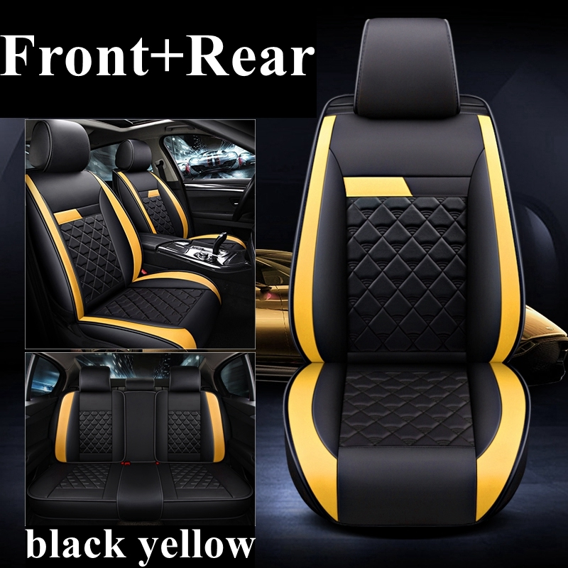Car seat covers fit Peugeot 208 XR black//yellow full set sport style