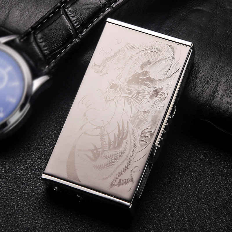 Image 3 - New Patterns USB Lighter Electric Pulse Arc Cigarette Lighter Windproof Thunder Metal Cigarette Plasma Flameless Cigar-in Cigarette Accessories from Home & Garden