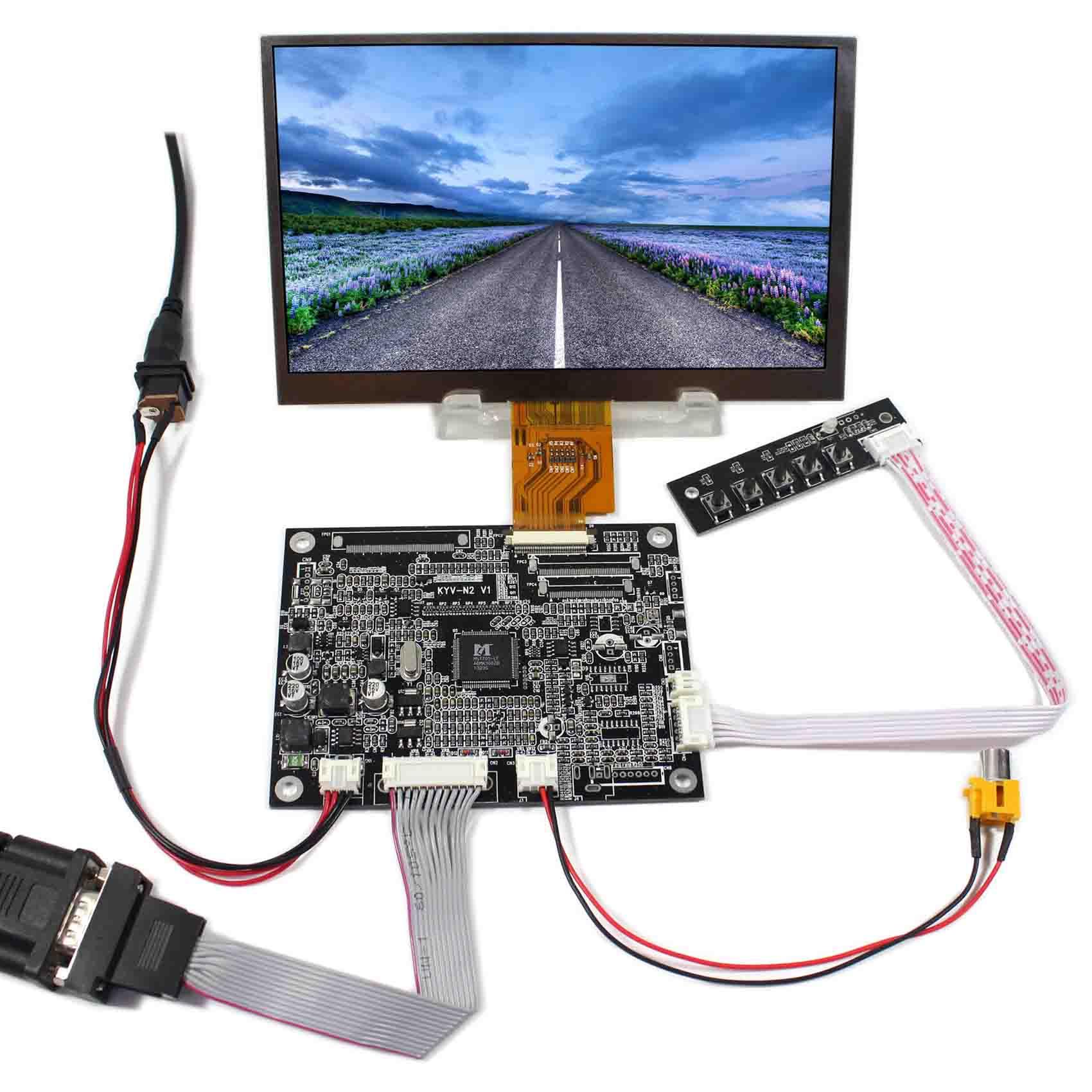 VGA 2AV LCD Controller Board+7inch 1024x600 AT070TNA2 LCD Screen vga 2av reversing lcd controller board with 7inch 1024x600 at070tna2 lcd screen