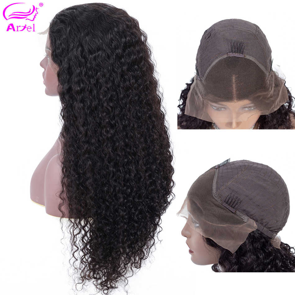 Curly Human Hair Wig Lace Front Human Hair Wigs For Black Women Mongolian Non Remy 13×4 13×6 Glueless Lace Wigs Human Hair Ariel