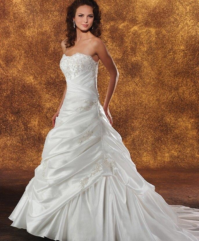 Romantic A Line Wedding Dresses Robe De Mariage Prices In