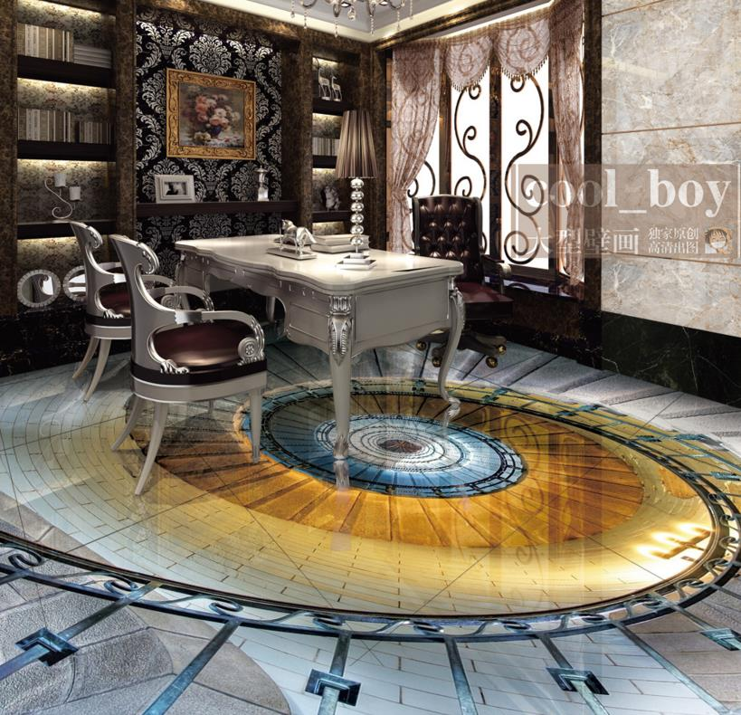 High Quality European style 3d Floor Wallpaper Photo Wall Mural Spiral staircase 3D Floor Painting 3D Stereoscopic Wallpaper custom 3d mural wallpaper european style painting stereoscopic relief jade living room tv backdrop bedroom photo wall paper 3d