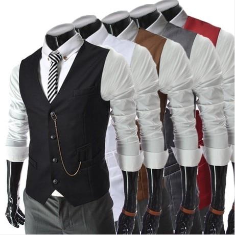 catena di metallo slim fit maglia primavera gilet giubbotto di business  uomini casual gilet da uomo di vita alla moda cappotto hot abito maglia  trasporto di ... 6e12bccb3e8