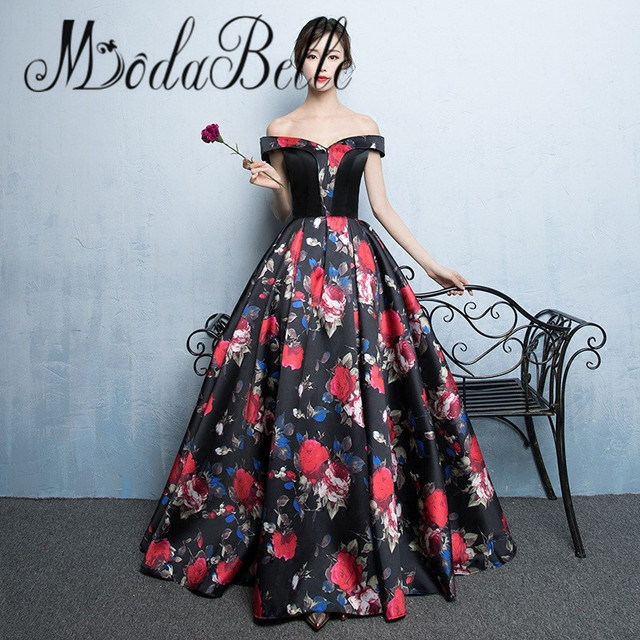 Red Rose Evening Dress