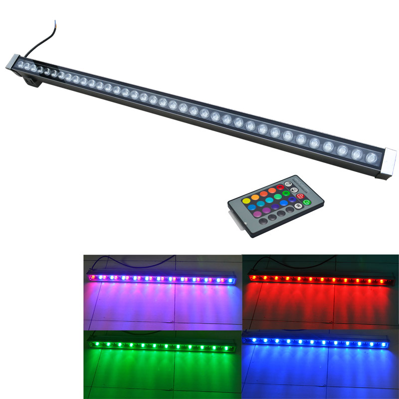Outdoor lamp flood light IP65 LED wall washer lamp AC85-265V white red yellow blue green RGB wall washer lights 36w led wall washer lamp waterproof led floodlights outdoor bar lamp dc24v led lamps white red yellow blue green rgb