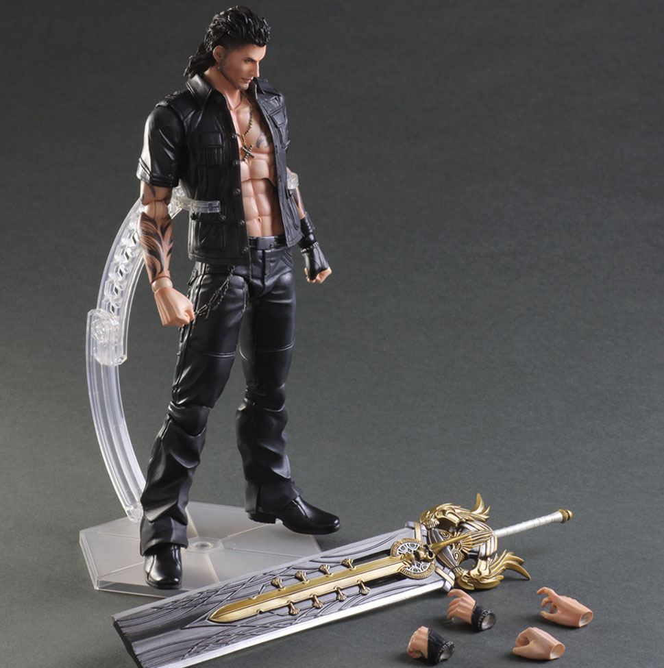 Free Shipping 10 PA KAI Final Fantasy 15 Gladiolus Amicitia Boxed 25cm PVC Action Figure Collection Model Doll Toy Gift free shipping 10 pa kai hatsune miku boxed 25cm pvc action figure collection model doll toy gift