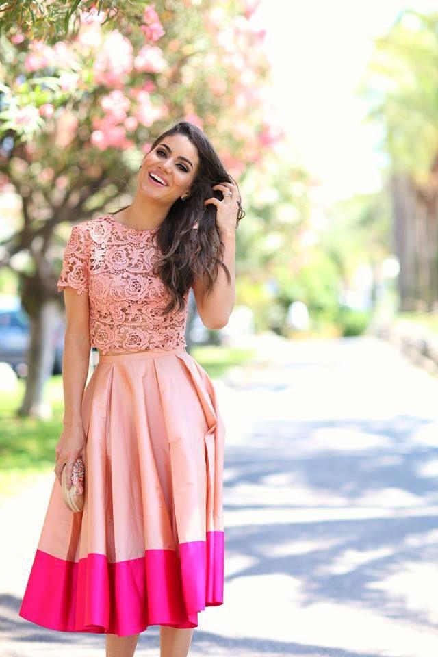 Aliexpress.com : Buy High Quality Stitching Color Skirt Custom ...