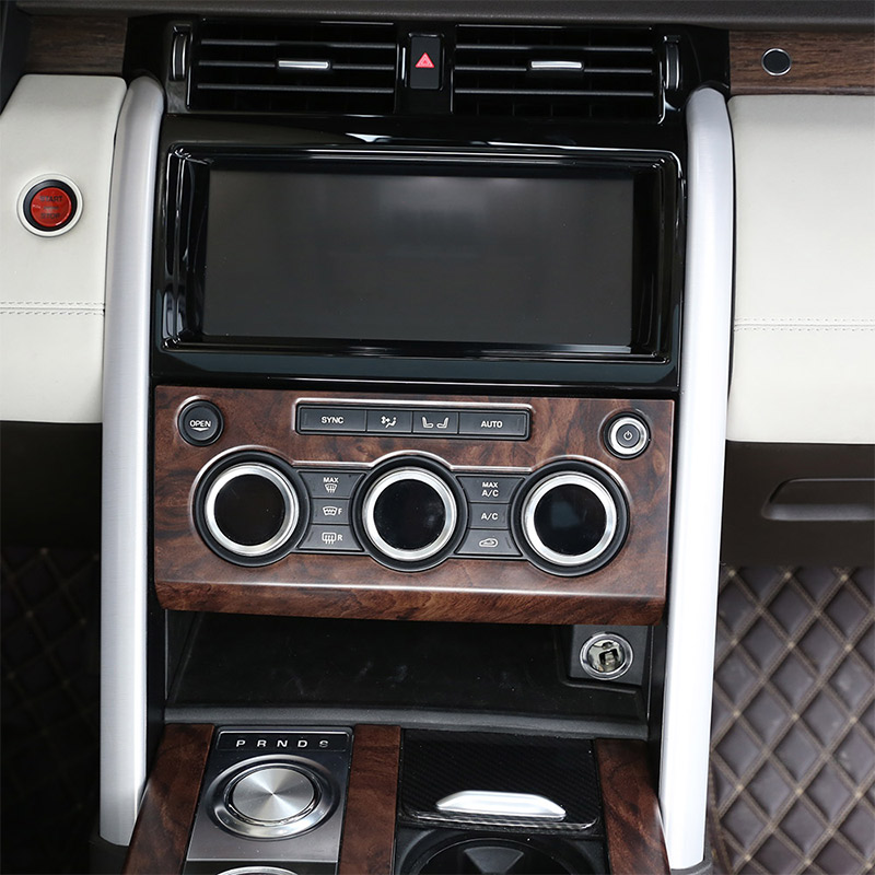 2018 Land Rover Discovery Interior: Rose Wood Grain Car Interior Center Console Panel Cover