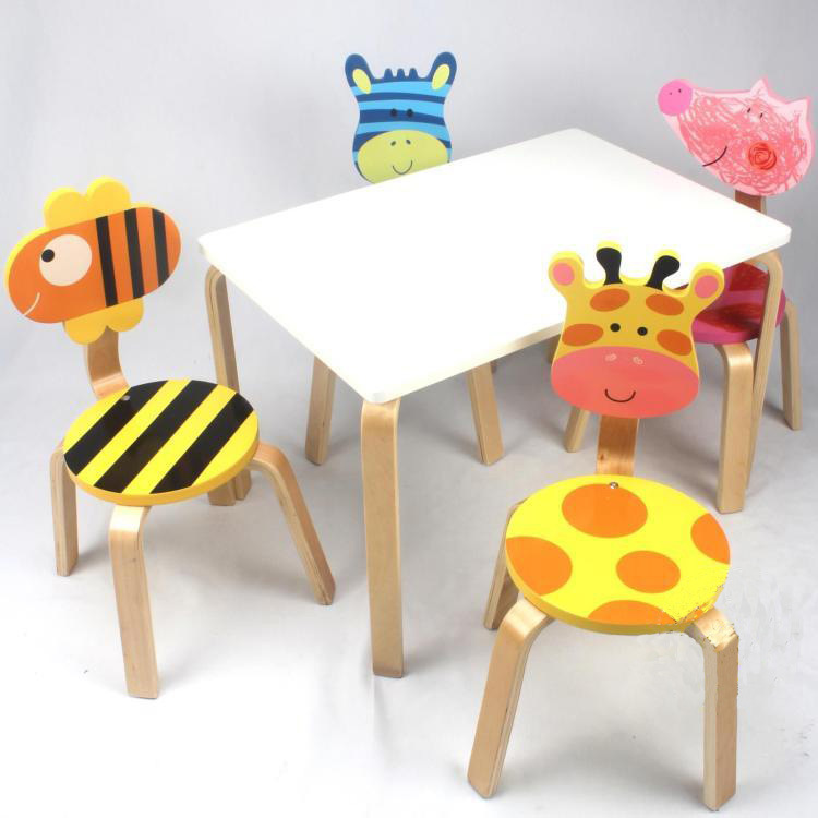 Extraordinary Solid Wood Children\'s Table And Chair Set Gallery ...
