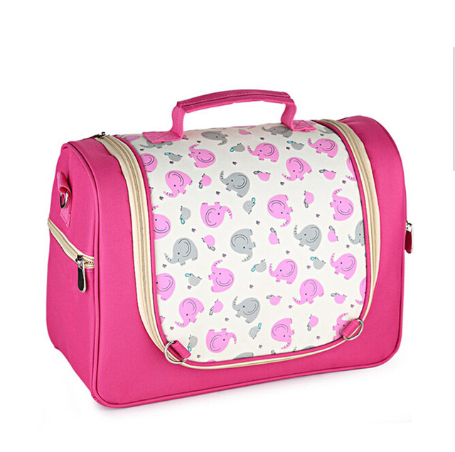Baby Diaper Bag Messenger Mommy Nappy Stroller Bag fashion print flower large capacity maternity mother tote bag free shipping