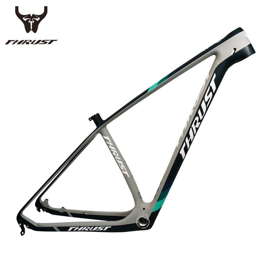 все цены на 2018 Bicycle Frame 29er 27.5er Mountain Bike Carbon Frame Size 15 17 19 BSA BB30 Disc Brake Tapered Carbon mtb Frame UD Black онлайн