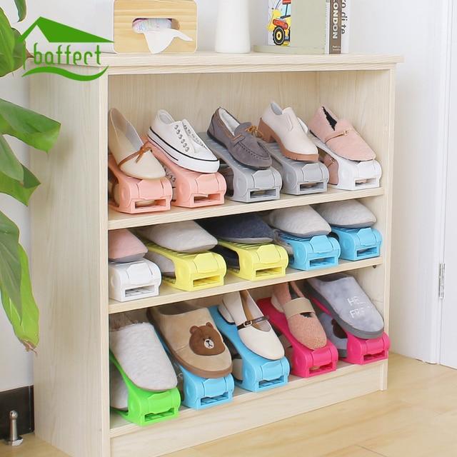 Étagères À Chaussures chaude Réglable Moderne Double De Nettoyage  Chaussures Rack De Stockage Salon Chaussures Organisateur