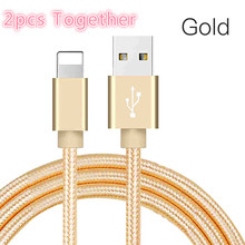 2pcs together USB Cable for iPhone xs max Charger Data X 8 6 6s 2.4A Charging Phone Cord Adapter