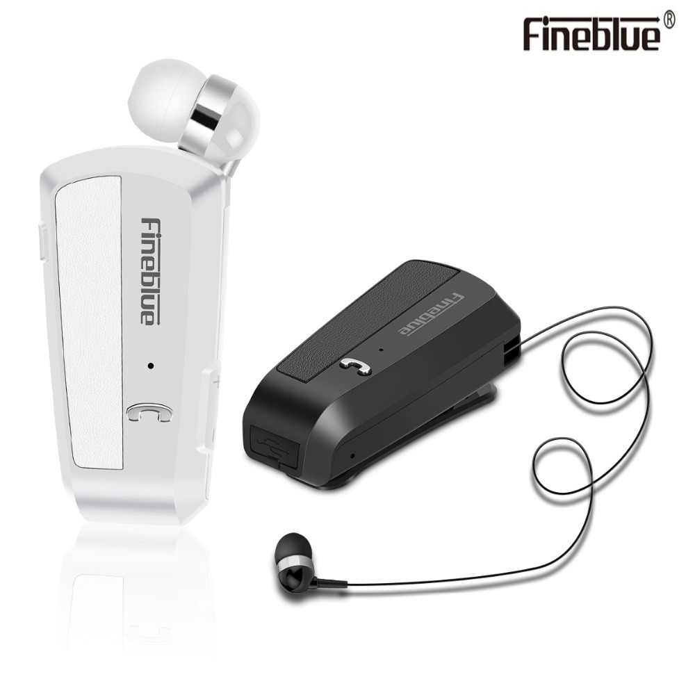 Newest Fineblue F990 Portable Business Wireless Bluetooth Headset Telescopic Type Collar Clip HD Sound Quality Earphone with Mic(China)